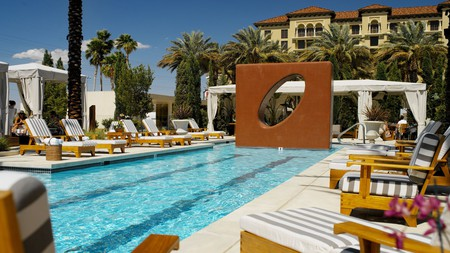Take a relaxing dip in the pool at Green Valley Ranch on a trip to Las Vegas