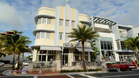 The truly funky Marlin Hotel on famed Collins Avenue, Miami, Florida, USA