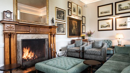 The Schloss Roxburghe in Kelso has a championship golf course as well as a cosy interior