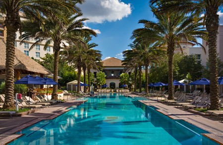 Find a resort hotel with an expansive pool such as Gaylord Palms, where you can kick back after a day of theme-park fun