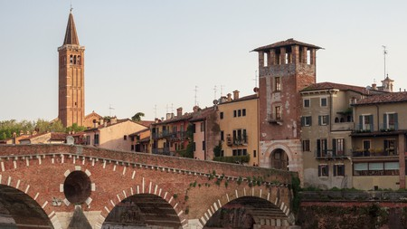End your day by admiring the Puente Pietra, and then head back for a good night's sleep in one of the best hotels in Verona