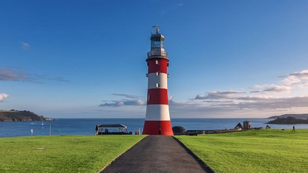 Enjoy the glorious view across Plymouth Sound from the Hoe.