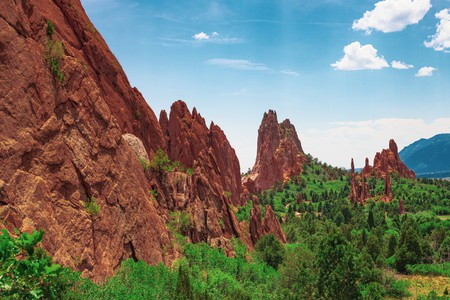 Find your base to explore the Garden of the Gods' red rock formations