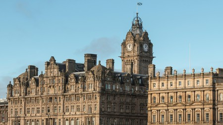 The impressive Balmoral Hotel in Edinburgh, Scotland, is a great choice for a tranquil stay
