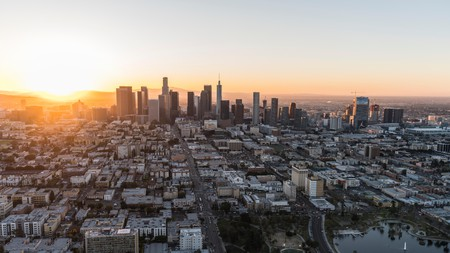 Many hotels in Hollywood have sweeping views of the LA skyline