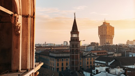 A luxury stay is the perfect retreat after enjoying golden hour from atop the iconic Duomo di Milano, Italy