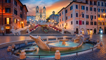 The breathtaking Spanish Steps in Rome