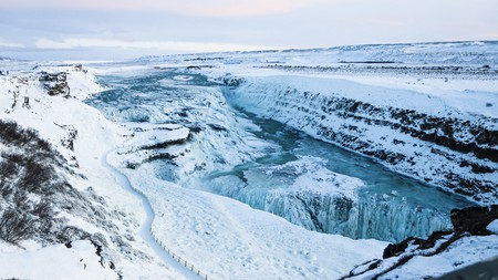 The stunning Gullfoss waterfall is just one of many must-see sights in Iceland