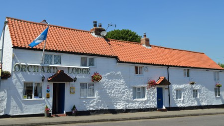 Orchard Lodge in Scarborough, England, lies close to Cayton Bay and Filey