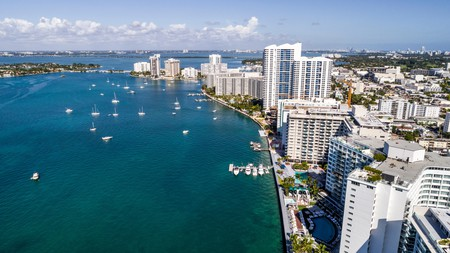 Take in the shimmering waters of Biscayne Bay from the comfort of your balcony.