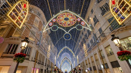 Christmas in Spain is a huge celebration, as seen here on the streets of Malaga