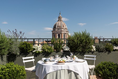 Enjoy breakfast with a view at Residenza Napoleone III or keep exploring Rome's best apartments and aparthotels for a cosy, authentic home base for your stay