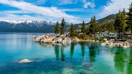 Enjoy views of the Lake Tahoe's stunning crystal-clear waters from one of the area's best hotels