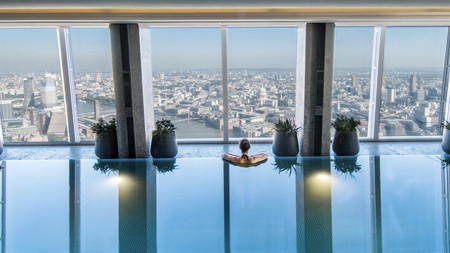 Live the high life in a 52nd-floor pool at Shangri-La Hotel at The Shard