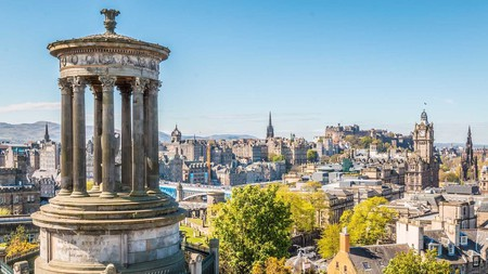 Take in the stunning view from Calton Hill, Edinburgh
