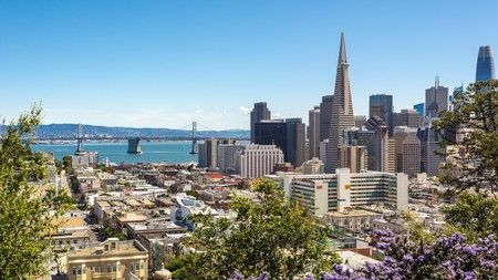 One great way to enjoy San Francisco's stunning city views is from a hotel balcony
