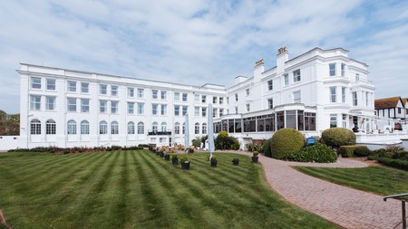 The Palace Hotel and Spa is a grand, regency-era monolith in Paignton