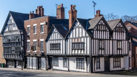 Old Buildings in Chester, Cheshire, UK
