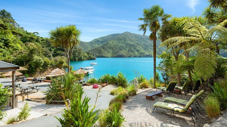 Lochmara Lodge, on the water's edge in Queen Charlotte Sound, allows you to get close to nature