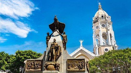 Monument to Simon Bolivar in the old town of Panama City