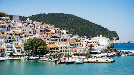 Relax in the privacy of your own villa on a trip to the Greek island of Skopelos