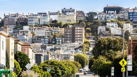 The steep rolling hills of San Francisco