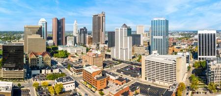 Columbus, Ohio aerial skyline panorama