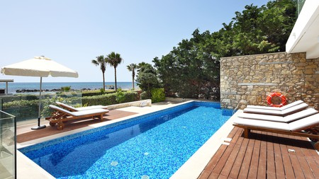 Enjoy snap-worthy sunsets, rooftop terraces and infinity pools with a stay at a chic villa in Paphos, Cyprus