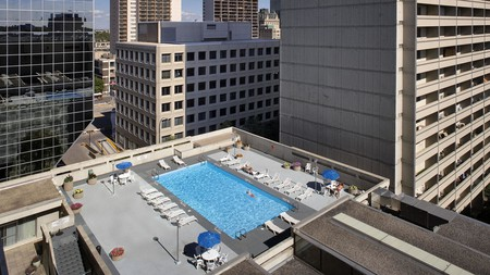 Go for a rooftop swim at the Delta Hotels by Marriot in Winnipeg, Canada