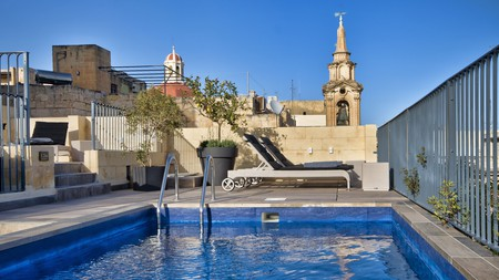 Spoil yourself with sweeping Grand Harbour views from the rooftop of a 17th-century palazzo