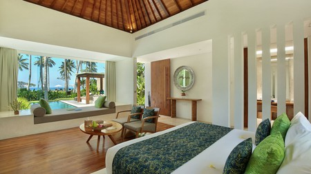 Accommodation at the Candi Beach Resort & Spa comes in the form of spacious, modern villas