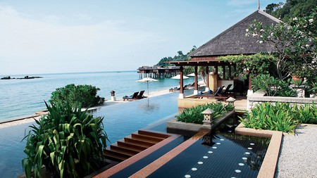 Malaysia's Pangkor Laut Resort is located on its own private island, with villas built on stilts over the sea