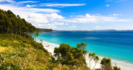 From a luxury lodge, you can easily access Bruny Island's immaculate white sand beaches