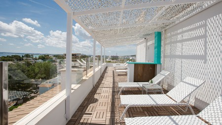 Relax on your apartment terrace at Ferrer Tamarindos, with gorgeous views over the Med