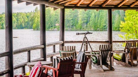 Arowhon Pines is a resort on the shores of Little Joe Lake in Algonquin Park, Ontario