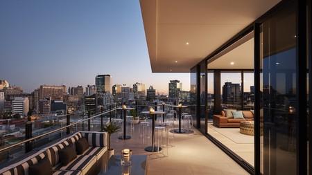 Enjoy impressive views of the Brisbane skyline at Art Series - The Johnson hotel