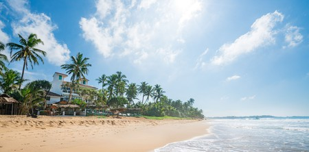 At Ease Beach Hotel is located at the quieter end of Hikkaduwa's coastline