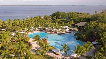 Shangri-La's Mactan Resort and Spa is a five-star property with beautiful grounds and a private beach