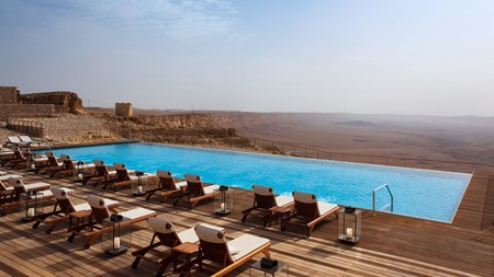 Infinity pools, spectacular spas and fresh Middle Eastern cuisine are part of the package at the best resorts in Israel