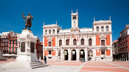 Before settling in your hotel for the night, make sure to stroll by the impressive Plaza Mayor in Valladolid, Spain