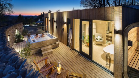 Several rooms at the Gilpin, Windermere, come with their own hot tub