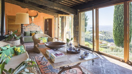 Enjoy the view from a luxury Tuscan castle
