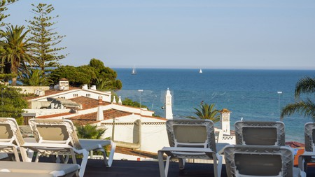 The beach destination of Albufeira in Portugal