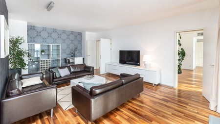 Expect tiled bathrooms, spacious bedrooms and a fully equipped kitchen at Irundo Zagreb