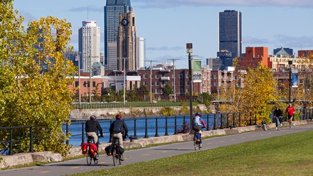 The banks of the Lachine Canal, in Montreal
