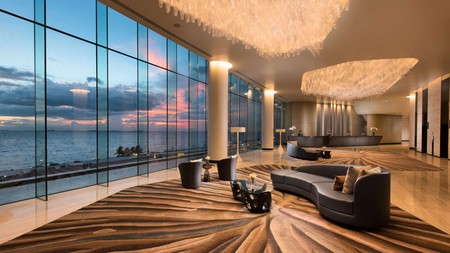 Get a room with a view across the bay at Conrad Manila