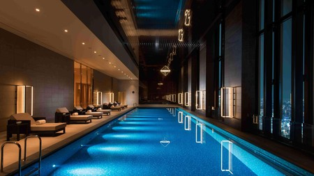 Onsen-style hot baths with a view are available at Conrad Osaka