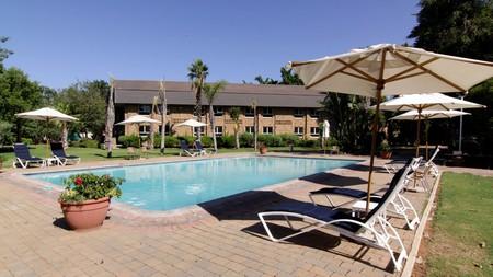 Unwind at the swimming pool at Cresta Lodge Gaborone