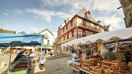 Western France's culinary traditions are famous around the world, and the market at Josselin is a great place to stock up