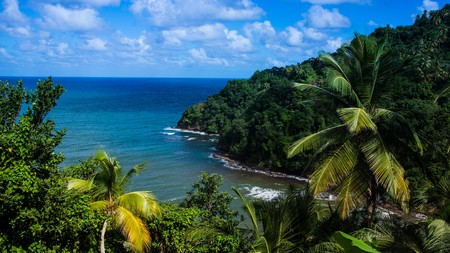 Pagua Bay in Dominica, with views toward the Atlantic
